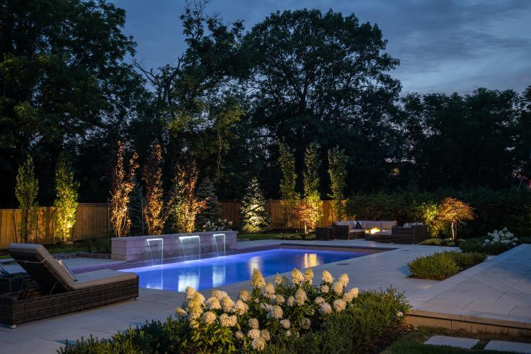 landscape and pool design Maple