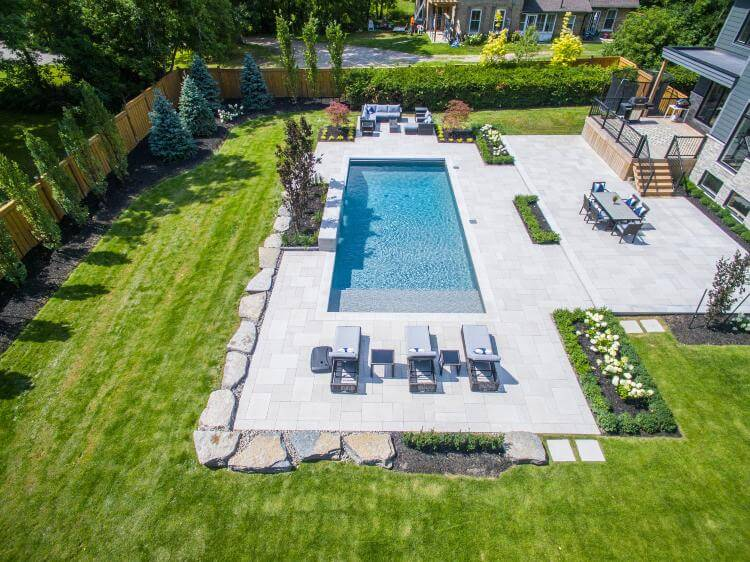 swimming pool landscape design Caledon